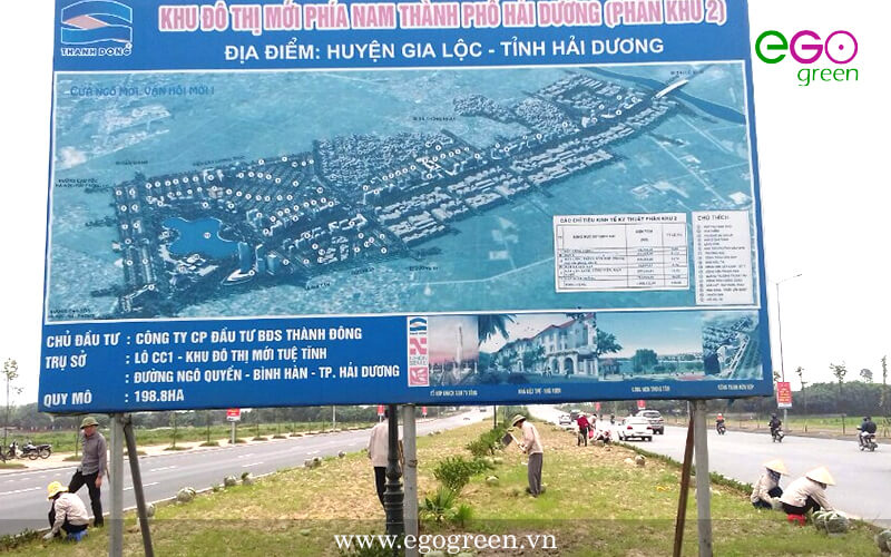 Thi công cảnh quan công trình đường 62M Hải Dương