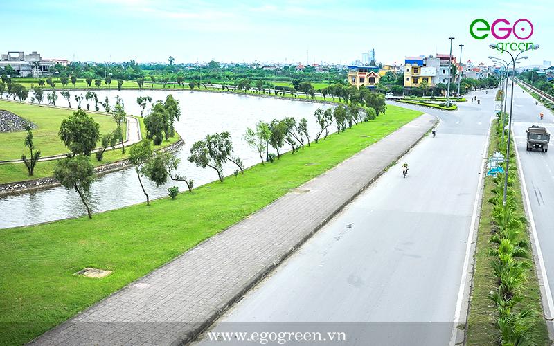 Nút giao thông Lộc Hòa, Nam Định xanh, sạch, đẹp