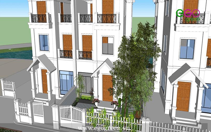 Thiết kế - thi công sân vườn biệt thự Vinhomes Riverside Hoa Lan 1.33