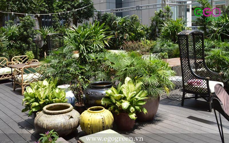 sân vườn trên mái