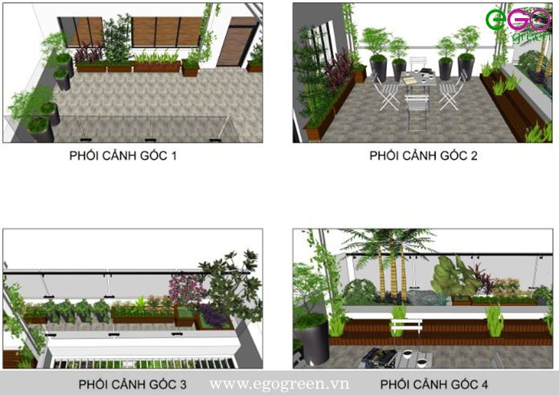 thiết kế thi công vườn đứng, vườn trên mái