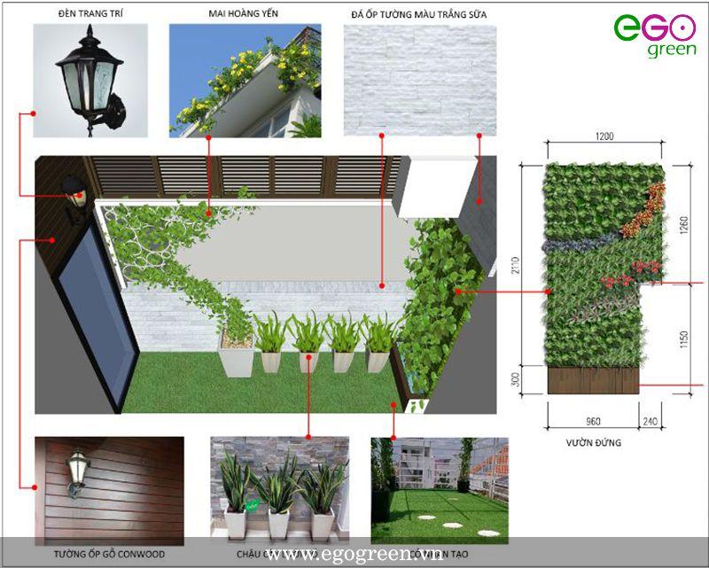 Thiết kế thi công vườn đứng ban công