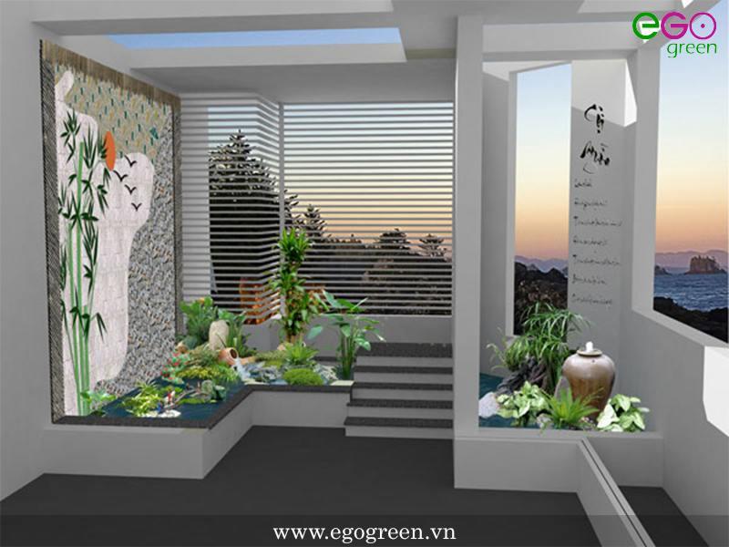 thiết kế cảnh quan sân thượng