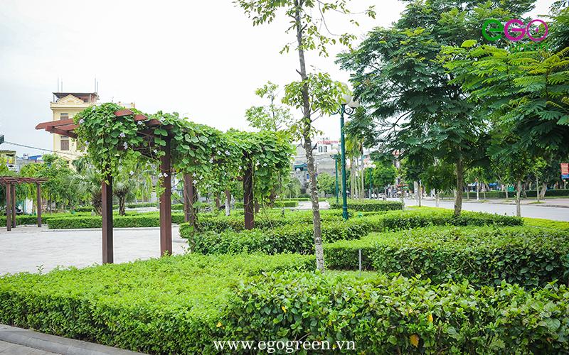 Hình ảnh công viên Vị Xuyên xanh mát sau thời gian thi công dài