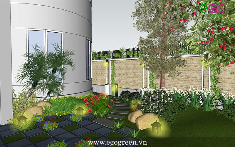 Hình ảnh thiết kế cảnh quan sân vườn biệt thự