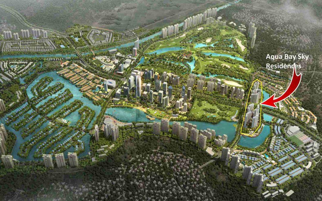 Thi công vườn đứng khu đô thị Aqua Bay Ecopark