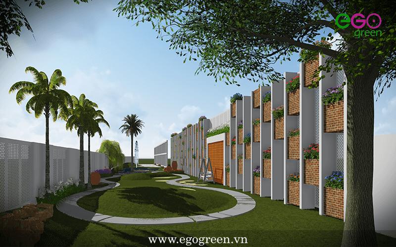 Thiết kế cảnh quan sân vườn biệt thự Đông Anh - Hà Nội